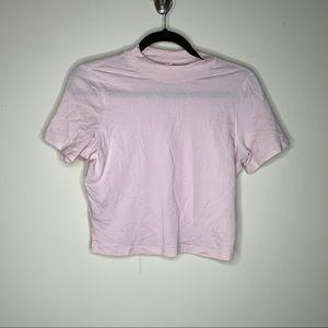 Lululemon pink Kitsilano Mock Neck Tee Size 8